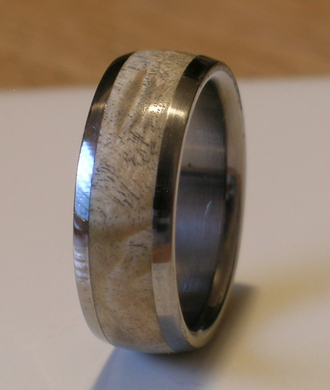 Tungsten Wedding Band Natural Maple Burl Wood Inlay Rings Available for Men and Ladies Sizes 4-18