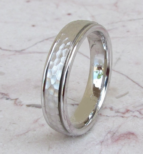 Sterling Silver Wedding Band 925 Women's Hammer Finish Custom Made Ring Designed For You Size 5 6 7 8 9 10 11 12 13 14 15