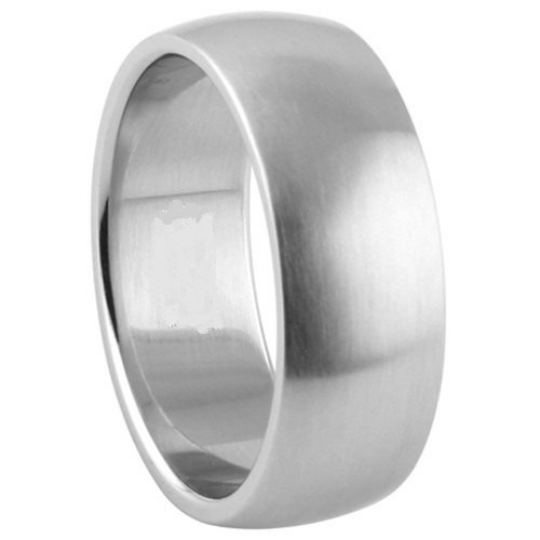 Silver Wedding Band Sterling 925 Satin Finish 8mm Custom Made Size 5 6 7 8 9 10 11 12 13 14 15