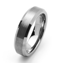 Tungsten Carbide Satin Men's or Women's Wedding Band 6mm Width Ring Comfort Fit Size 5-15.5