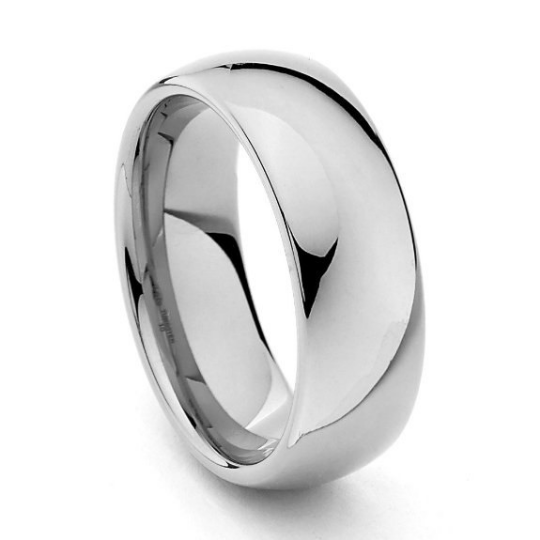 Tungsten 8mm Wedding Band Dome Polished Comfort-fit Design Sizes 6 6.5 7 7.5 8 8.5 9 9.5 10 10.5 11 11.5 12 12.5 13 13.5 14