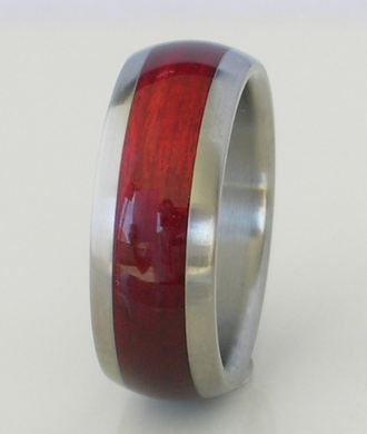 Tungsten Ring Cherry Bahama Wood Mens or Ladies Wedding Band in sizes 4 5 6 7 8 9 10 11 12 13 14 15 16 17 HandCrafted