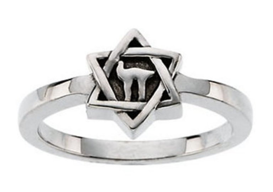 Star of David Ring 14kt Yellow Gold or 14kt White Gold Design Sizes Available 3 4 5 6 7 8 9 Plus Half and 1/4 Sizes