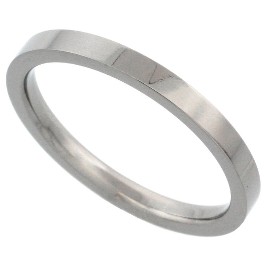 Titanium Wedding Band Comfort Fit Ring 2mm Width Pipe Flat Matte Finish Polish Men or Womens Size 3 4 5 6 7 8 9 10 11 12