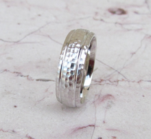 Sterling Silver Wedding Band 925 Hammer Finish Custom Made Ring Designed For You Men or Womens Size 5 6 7 8 9 10 11 12 13 14 15