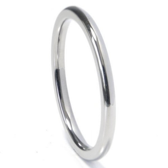 White Gold Wedding Band 2mm in 14kt