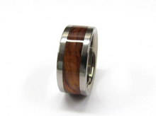 Titanium Ring Exotic Koa Wood Mens or Ladies Wedding Band in sizes 4-17 HandCrafted