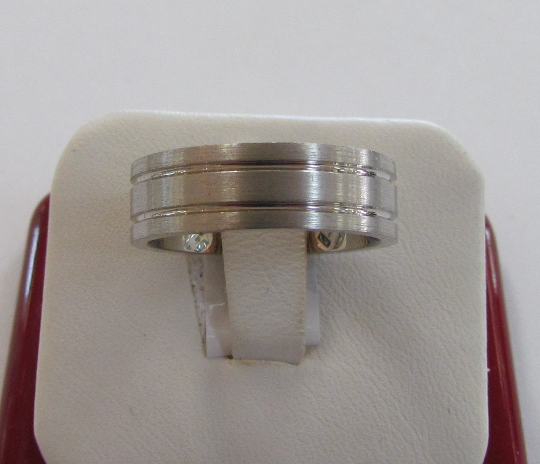 Silver Wedding Band Sterling 925 Satin Finish Double Lines Custom Made Ring Designed For Men or Womens Size 4 5 6 7 8 9 10 11 12 13 14 15