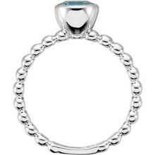 Birthstone Ring in 14kt White Gold Stackable Ring