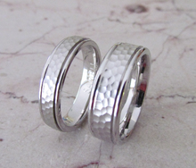 Sterling Silver Wedding Bands 925 His & Hers Hammer Finish Custom Made Rings Designed For You Size 5 6 7 8 9 10 11 12 13 14 15