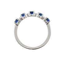 Mothers Ring Design 14kt White Gold Five 3mm Stones any Combination of Gemstones you Preffer Size 3 4 5 6 7 8 9 Plus Half Sizes