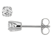 Diamond Earring Studs in 14kt Yellow or 14kt White Gold for Pierced Ears Natural Genuine Diamonds 0.18pts Total Carat Weight
