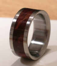 Titanium Ring Desert Iron Wood Band Mens or Ladies Custom Made Brown WOODEN WEDDING Bands