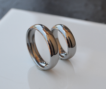 His and Hers Titanium Wedding Bands Comfort Fit Classic Dome Design High Polished Men or Womens Sz 5 6 7 8 9 10 11 12 13 14 and Half Size