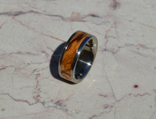 Bethlehem Olive Wood Titanium Wood Ring 8mm Mens or Ladies Wedding Bands Size 4 5 6 7 8 9 10 11 12 13 14 15 16 17 18 19 20 Half Sizes