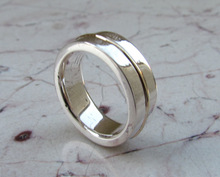 Wedding Band 14kt Solid Yellow Gold & Sterling Silver 925 Custom Made Rings Designed For Men or Womens Size 4 5 6 7 8 9 10 11 12 13 14 15