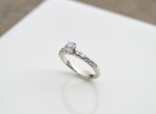 14kt White Gold Diamond Engagement Ring Wedding Band