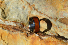 Pure Tungsten and Titanium Wood Ring Exotic Desert Iron Wood 8mm Mens Ladies Band Sz 4 5 6 7 8 9 10 11 12 13 14 15 16 17 18 19 20 Half Sizes