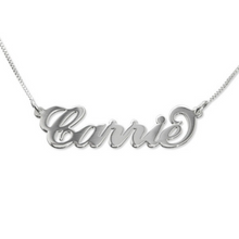 Custom Name Necklaces Ashley Sara Estrella Andrea Carrie Samples Create your Own Names Sterling Silver with Box Chain
