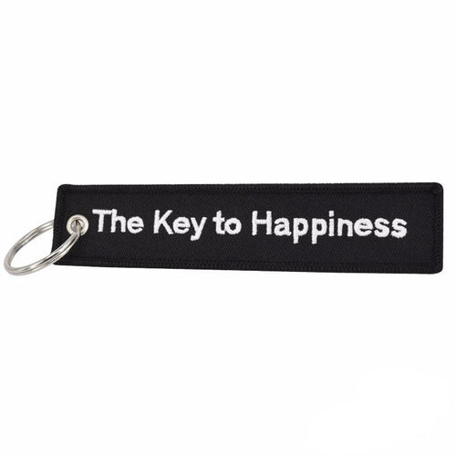 The Key To Happiness Key Tag