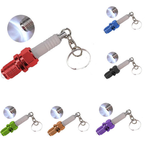 Spark Plug Flash Light Keychain
