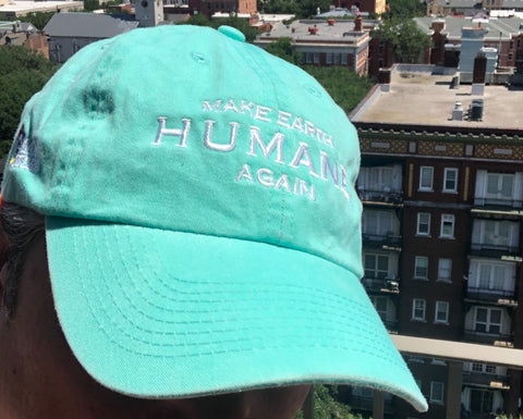 Make Earth Humane Again - Turquoise Transferring