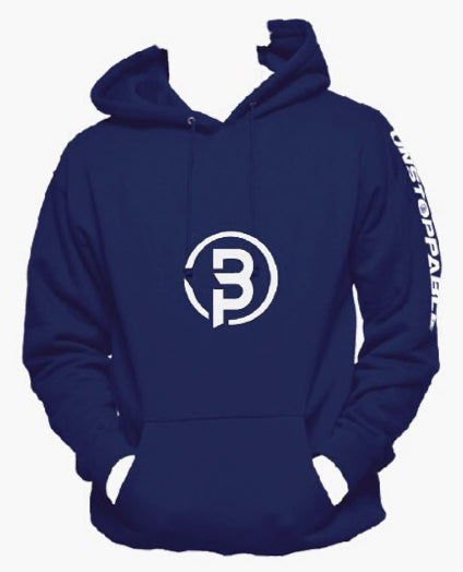 Unstoppable Logo Print Hoodie - Blue