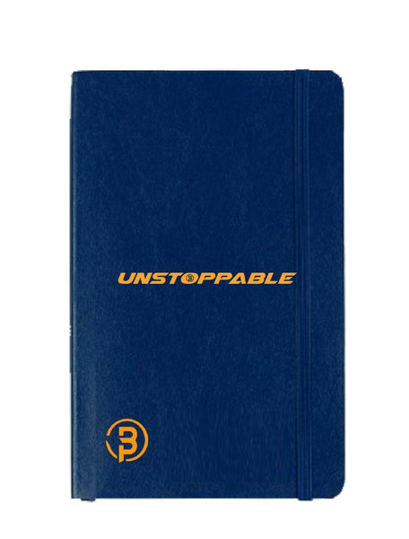 Unstoppable Logo Print Notebook - Blue