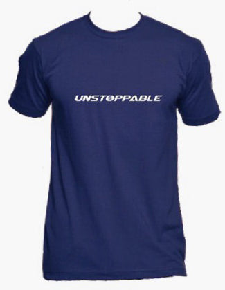 Unstoppable Logo Print T-Shirt - Blue