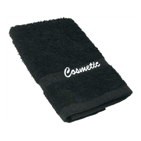 Black Cosmetic washcloth for Airbnb