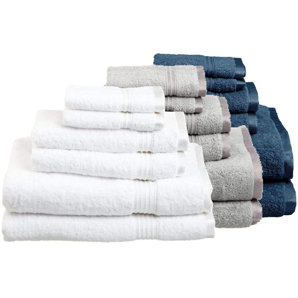 5 Star White Gray Blue Towel Sets Good Host Shop