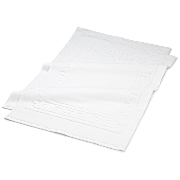 White Bath Mat Cotton Towels for Short Term Airbnb VRBO Vacation Rental Hosts Good Host Shop