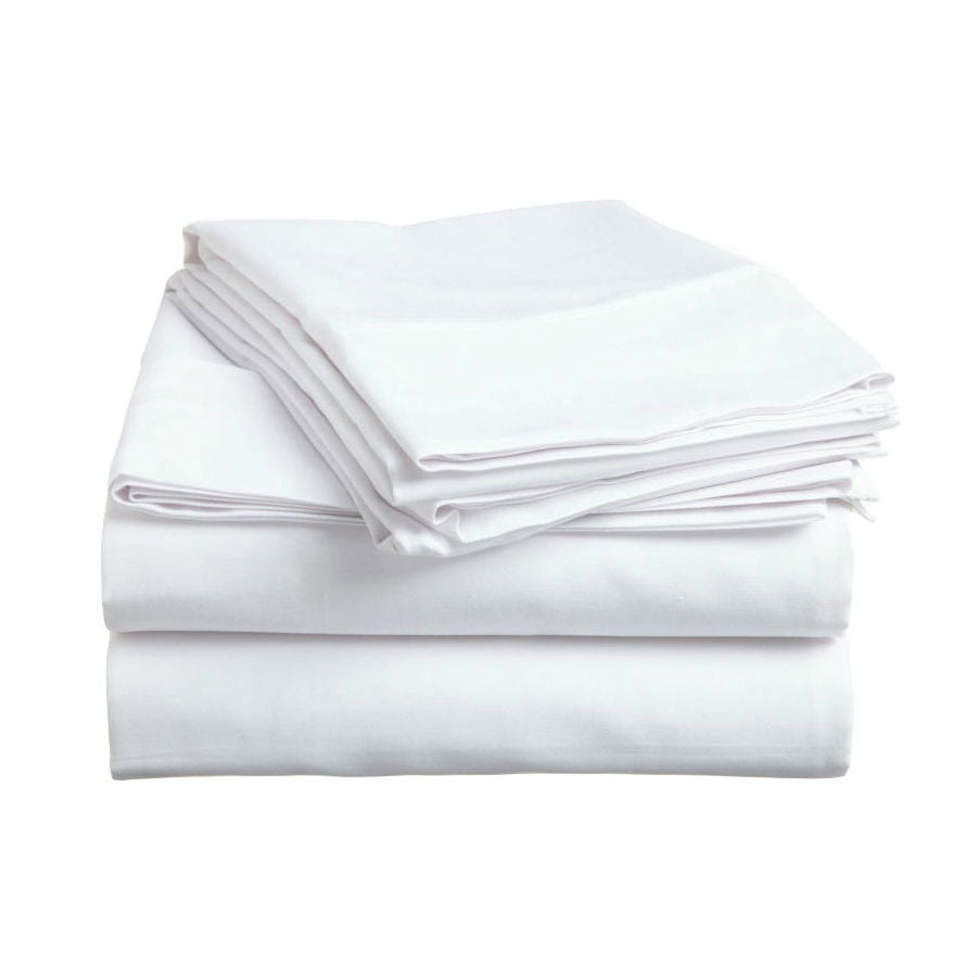 Money Saver White Bed Sheets Fitted Flat Pillowcase Short Term Vacation  Home Rental