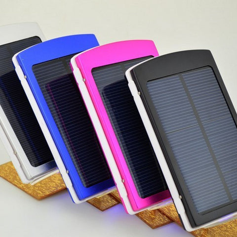 Solarpower Bank External Battery 12000mah for android, apple, or any USB charging cable