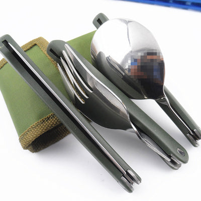 Titanium Collapsable Camping Utensils
