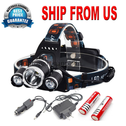 Rechargeable LED Headlamp Our Best Price Of The Year While Supplies Last!
