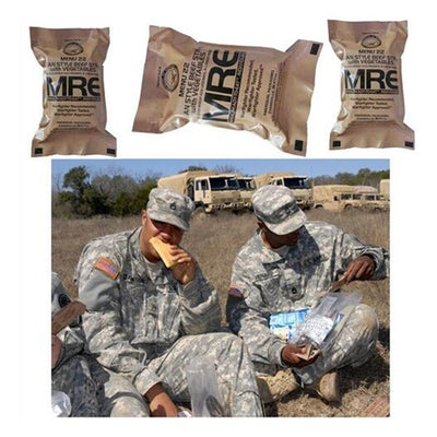 12-Pack U.S. Military Meals Ready To Eat (MRE) Emergency Reserve Food
