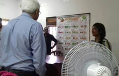 The Governor of the Central Bank of Sri Lanka, Indrajit Coomaraswamy (CBSL) visited our factory in Kilinochchi