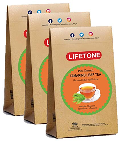 Tamarind Leaf Tea,Delicious antioxidant Tropical Stress Relief herb,60 Teabags