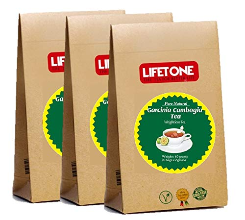 lifetone the tea for better life, 30 Days Detox Tea for Weight Loss | Slimming Tea Cleanse | Diet Fat Loss Drink | 60 Teabags| Natural Herbal Supplement Blend with Garcinia Cambogia