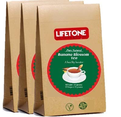 LIFETONE Herbal Tea Blend with Pure organically Grown Banana Blossom,60 teabags,3 Sets