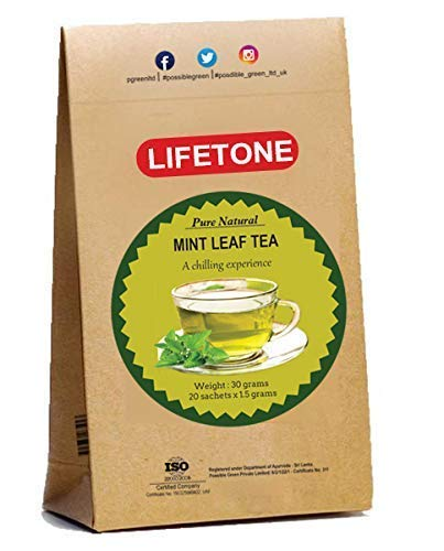 Tropical Mint Leaf Tea, Whole Peppermint herb,100% Pure Natural,20 Teabags