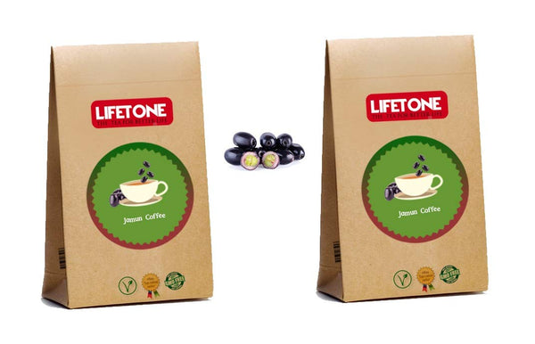 Caffiene Free Coffee Substitue,Blend with Indian BlackBerry Seeds and Ginger,40 Sachets