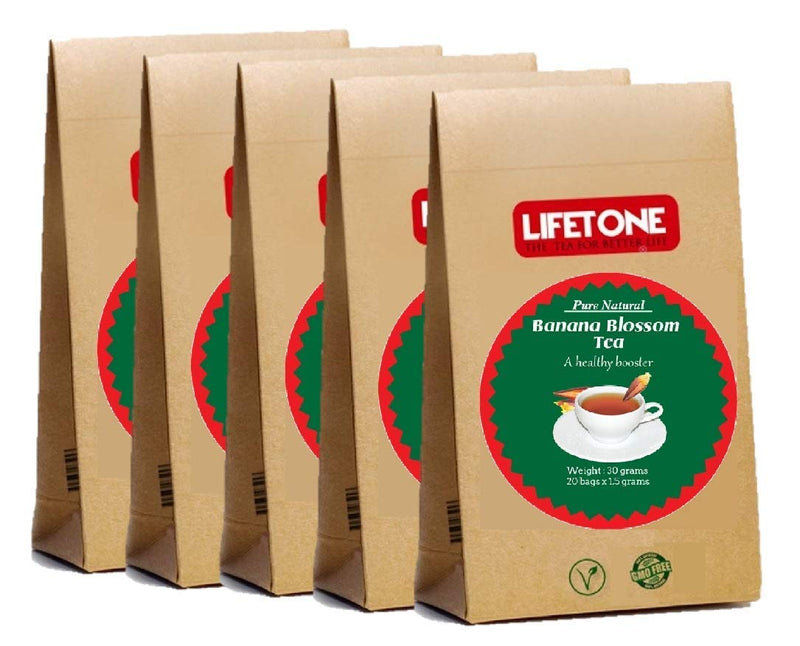 LIFETONE Banana Blossom Tea | Peace in Mind |Delicious Herbal Flower Stress Relief Tea | 100 Teabags