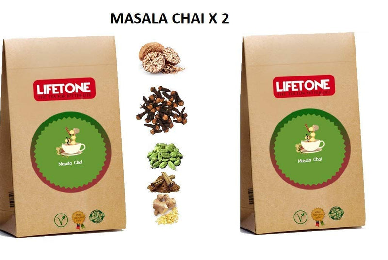 Masala Chai,Delicious Mixture of 6 Spices,40 Teabags