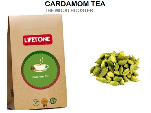 Cardamon Tea, Mood Booster, Detoxification, Anti-Depressant ,Delicious, 20 Teabags