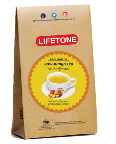 Raw Mango Tea |100% Pure Green Ceylon Sweet Mango Fruit Tea | Delicious 20 Teabags