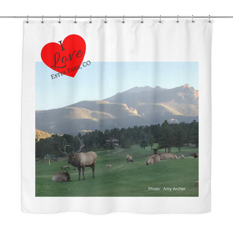 Rocky Mountain Herd Shower Curtain