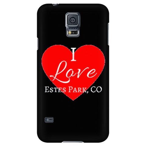 """I Love Estes Park"" Black Galaxy & iPhone Covers"