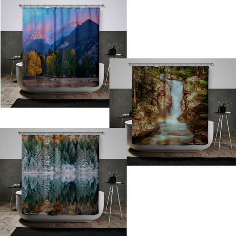 Estes Park Peak to Valley Shower Curtains